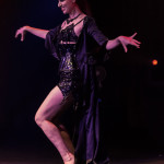 Miss Vampfire performing at the 2014 New York Burlesque Festival Golden Pastie awards burlesque show
