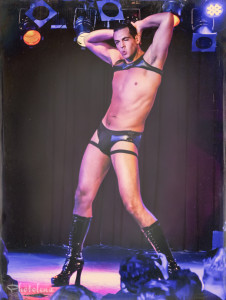 Mr. Gorgeous performing at the 2014 New York Burlesque Festival