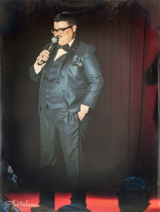 Murray Hill performing at the 2014 New York Burlesque Festival