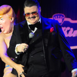 Murray Hill and Julie Atlas Muz onstage at the 2016 New York Burlesque Festival Saturday night show.