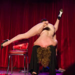 Boo Bess with Jenny C'est Quoi performing at the 2017 New York Burlesque Festival Thursday night Teaser party at the Bell House.