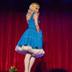 Cassandra Rosebeetle performing at the 2017 New York Burlesque Festival Thursday night Teaser party at the Bell House.