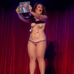 Darlinda Just Darlinda performing at the 2017 New York Burlesque Festival Thursday night Teaser party at the Bell House.