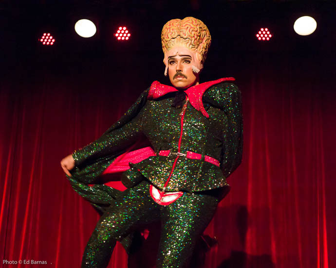 Jacques Patriaque performing at the 2017 New York Burlesque Festival Thursday night Teaser party at the Bell House.