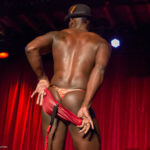 Jet Noir performing at the 2017 New York Burlesque Festival Thursday night Teaser party at the Bell House.