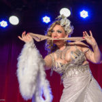 Lelu Lenore performing at the 2017 New York Burlesque Festival Thursday night Teaser party at the Bell House.