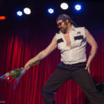 Stache Novak performing at the 2017 New York Burlesque Festival Thursday night Teaser party at the Bell House.