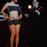 Stormy Leather and Murray Hill onstage at The 2017 New York Burlesque Festival Saturday night show at BB Kings.