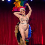 Velvet Kensington performing at the 2017 New York Burlesque Festival Thursday night Teaser party at the Bell House.