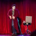Viktor Devonne performing at the 2017 New York Burlesque Festival Thursday night Teaser party at the Bell House.
