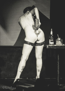 Nasty Canasta performing at the New York Burlesque Festival 2015 Sunday night Golden Pasties awards show at Highline Ballroom.