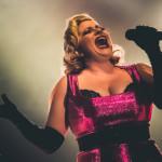 Natasha Estrada performing at the Toronto Burlesque Festival Teaser show, Bombshell