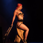 Nina La Voix performing at the 2014 Toronto Burlesque Festival Day 2