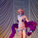 Nina La Voix performing at the 2015 Great Burlesque Exposition day 1 show, The Rhinestone Revue