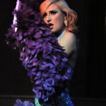 Nina LaVoix performing at the Hollaback Girls Benefit Burlesque Show