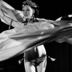 Orchid Mei performing at the 2015 New York Burlesque Festival Saturday Night Spectacular at B.B. King Blues Club.