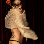 Pastel Supernova performing at the Toronto burlesque show, Love Letters Cabaret: Eden, on October 28th, 2014 at Lula Lounge.