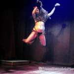 Pearls Daily performing at Hotsy Totsy Burlesque show Wizard of Oz Burlesque at the Slipper Room, NYC.