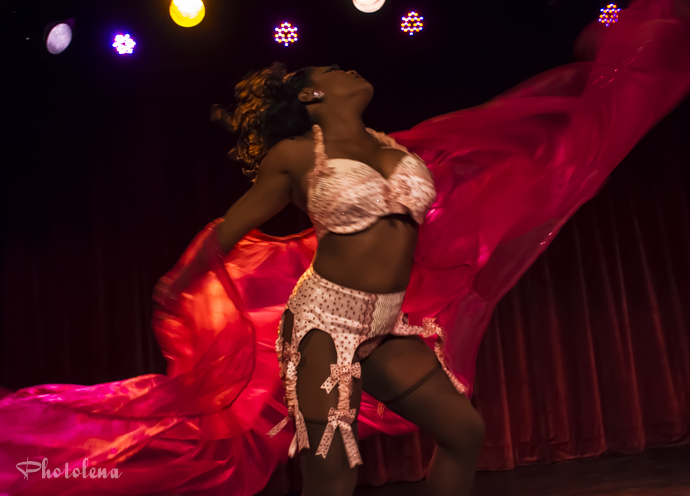 Perle Noire performing at the 2014 New York Burlesque Festival Thursday Night Teaser Party
