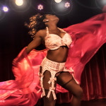 Perle Noire performing at the 2014 New York Burlesque Festival