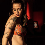 Revel performing at the Toronto burlesque show, Love Letters Cabaret: Eden, on October 28th, 2014 at Lula Lounge.