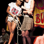 Reverend Mother Flash performing at Bushwick Burlesque 4 year anniversary show at Bizarre Bushwick