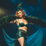 Rouge La Rouge performing at the 2015 Toronto Burlesque Festival teaser show, Crystal Menagerie