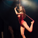 Rubie performing at the Toronto burlesque show, Girlesque 2015, the Sunday show