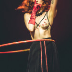 Rubie Magnitude performing at the 2015 Toronto Burlesque Festival teaser show, Crystal Menagerie