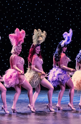 Ruby Revue performing at the 2014 Burlesque Hall of Fame Tournament of Tease
