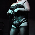 Ruby Solitaire performing at the Hollaback Girls Benefit Burlesque Show