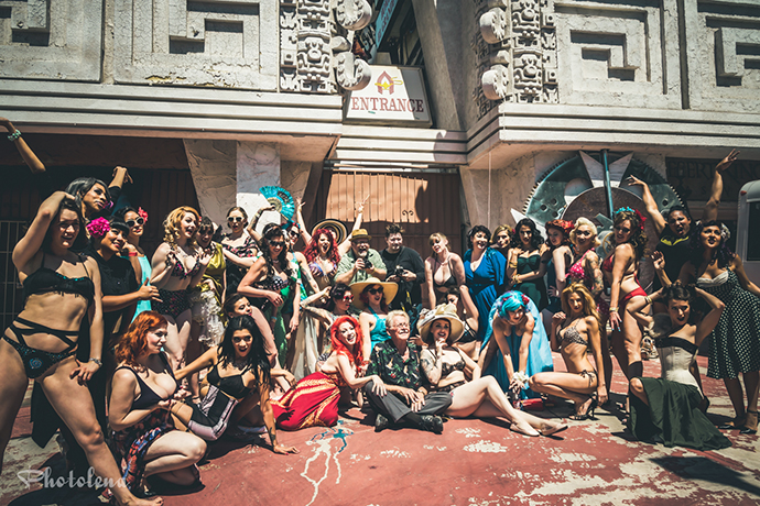 The Burlesque Hall of Fame Weekend 2015 Pinup Photo Safari in Las Vegas, Nevada.