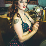 Sailor St. Claire modeling for the Burlesque Hall of Fame Weekend 2015 Pinup Photo Safari in Las Vegas, Nevada.