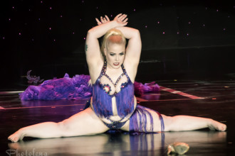 Sassy von Straddler performing at the 2016 Burlesque Hall of Fame Saturday night Tournament of Tease debut category.
