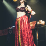Scarlett La Flamme performing at the Bad Girls of History burlesque show in Toronto.