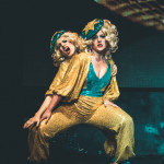 Schlep Sisters performing at the New York Burlesque Festival 2015 Sunday night Golden Pasties awards show at Highline Ballroom.
