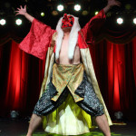 Sergei performing at the New York Burlesque Festival 2015 Friday night premiere party at Brooklyn Bowl.