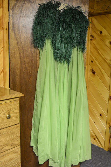 Burlesque legend April March's green Simon Soar Negligee