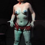 Sizzle Dizzle performing at the Hollaback Girls Benefit Burlesque Show
