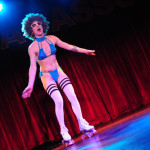 Stormy Leather performing at the 2013 Wasabassco Burlesque Ninth Anniversary Show