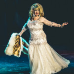 Suzette Fontaine onstage for the 2015 Burlesque Hall of Fame Weekend Legends of Burlesque Walk of Fame.