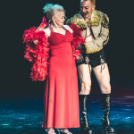 Tammi True and Tigger! onstage for the 2015 Burlesque Hall of Fame Weekend Legends of Burlesque Walk of Fame.