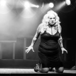 Tanya Cheex performing at the Bad Girls of History burlesque show in Toronto.