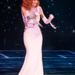 Tempest Storm onstage at the 2016 Burlesque Hall of Fame Friday Night Legends Reunion Showcase.