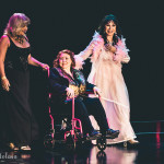 Terri-Starr, Delilah Jones and KC Layne onstage for the 2015 Burlesque Hall of Fame Weekend Legends of Burlesque Walk of Fame.