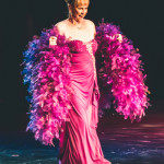 Tess LaRue onstage for the 2015 Burlesque Hall of Fame Weekend Legends of Burlesque Walk of Fame.