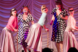 Boston Babydolls Burlesque performing at the 2015 Great Burlesque Exposition day 1 show, The Rhinestone Revue