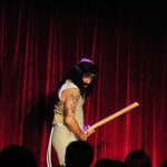 The Great Dubini performing at the 2016 New York Burlesque Festival Thursday night show at The Bell House.