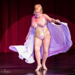 Tiffany Carter onstage at the 2016 Burlesque Hall of Fame Friday Night Legends Reunion Showcase.