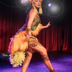 Tinker Bell performing at the 2014 New York Burlesque Festival